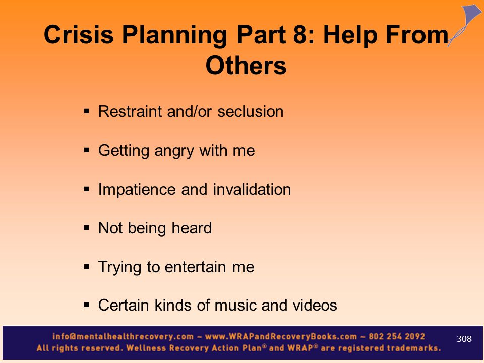 Crisis Planning Part 8: Help From Others