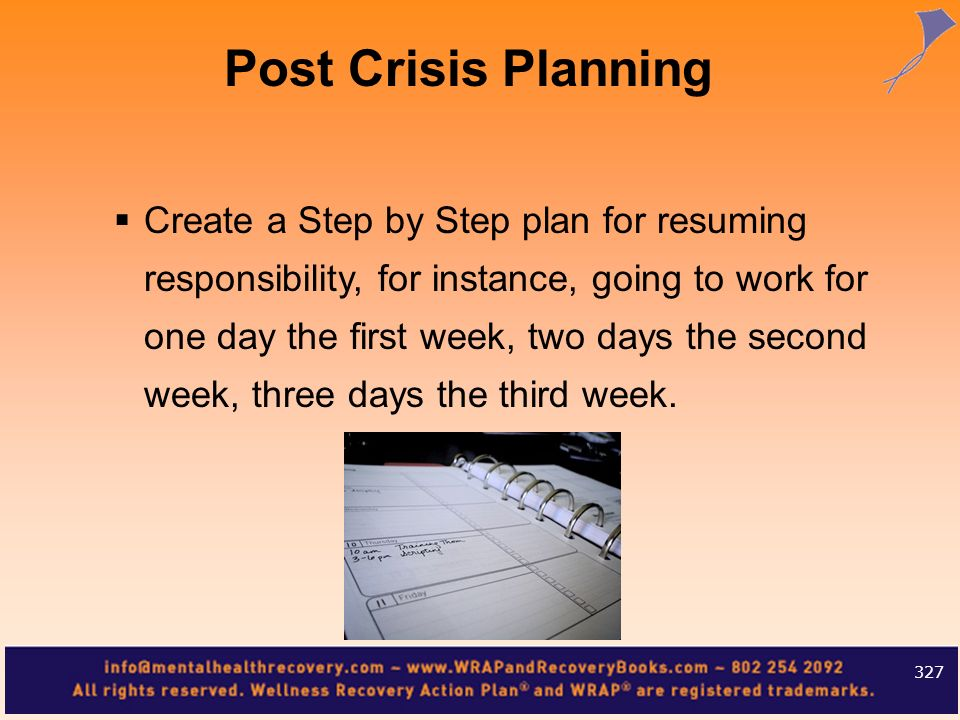 Post Crisis Planning