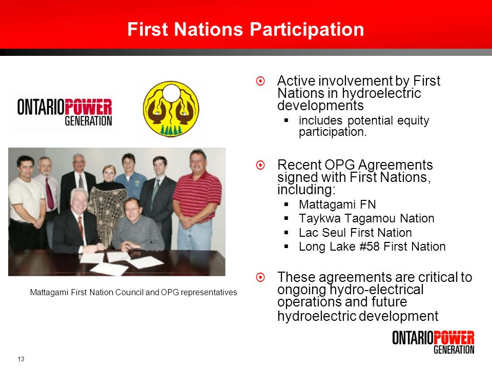 First Nations Participation