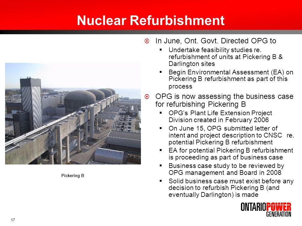 Nuclear Refurbishment