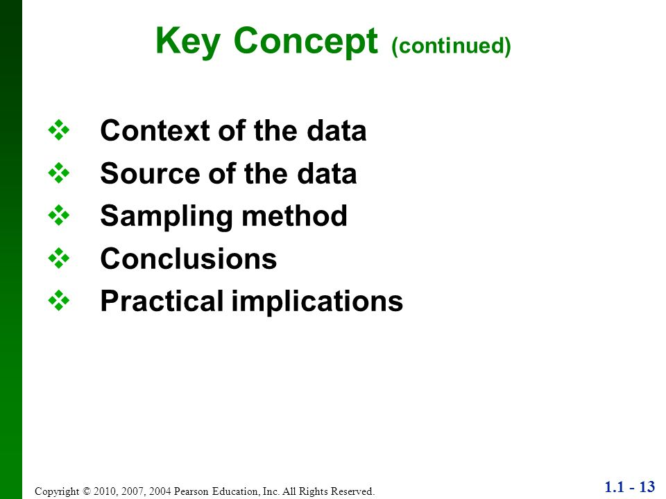 Key Concept (continued)