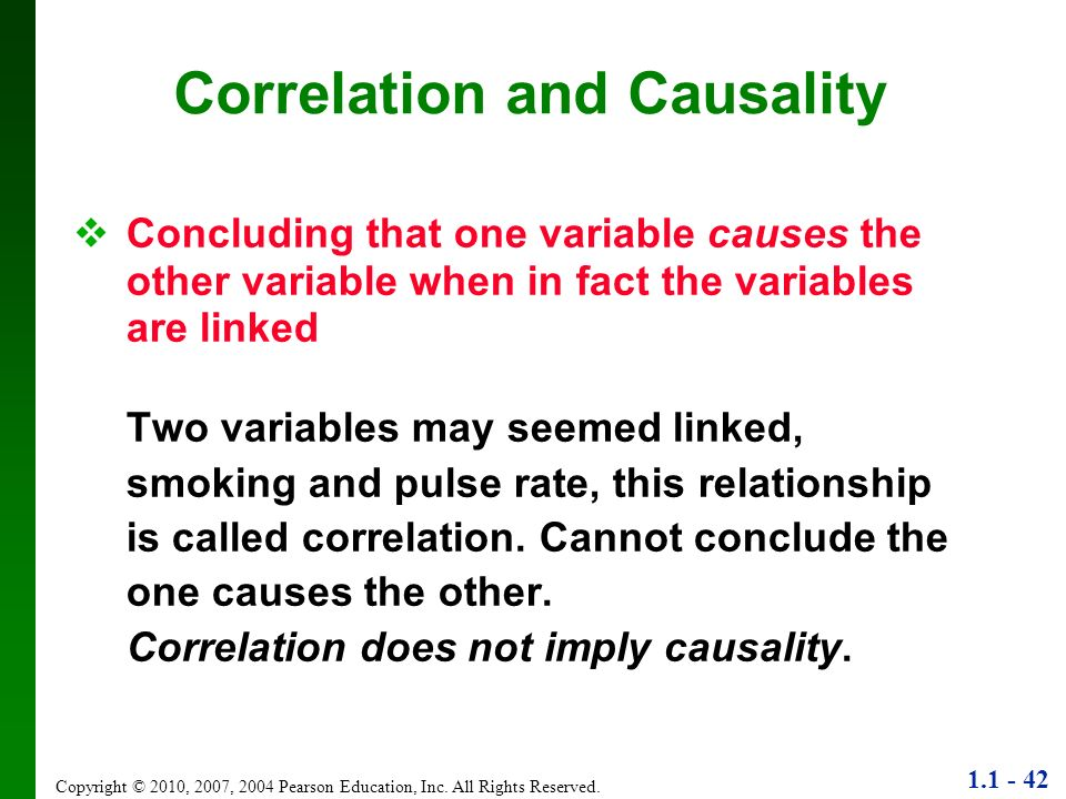 Correlation and Causality