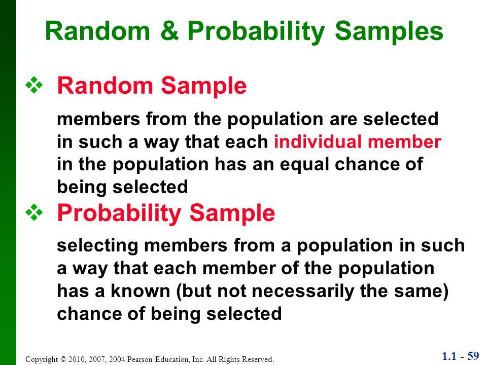 Random & Probability Samples