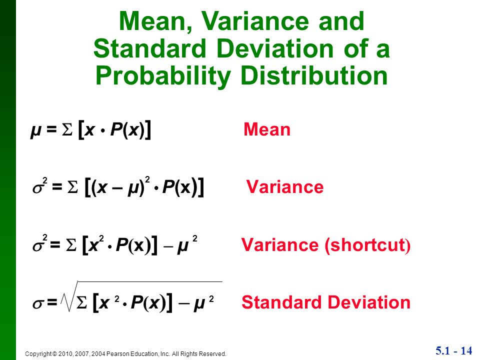 Lecture slides elementary statistics eleventh edition ppt video standard deviation of a probability distribution ccuart Images