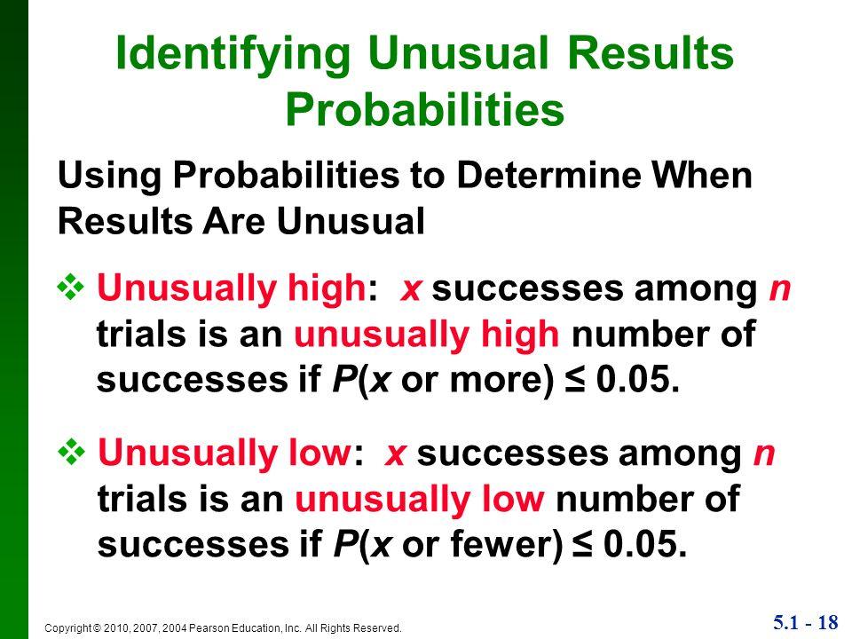 Identifying Unusual Results