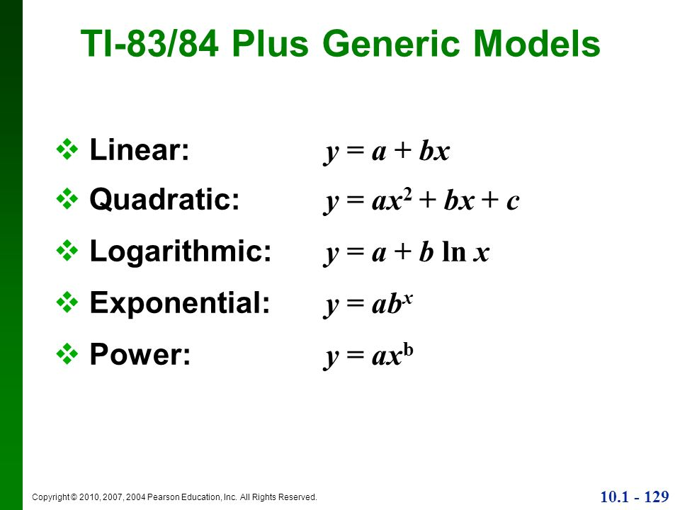 TI-83/84 Plus Generic Models