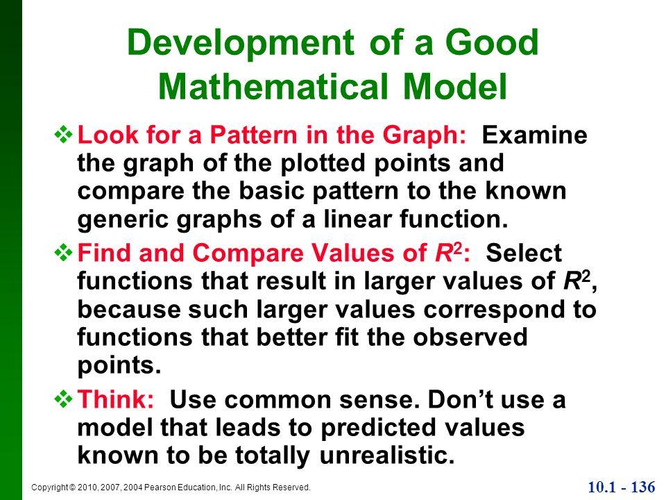 Development of a Good Mathematical Model