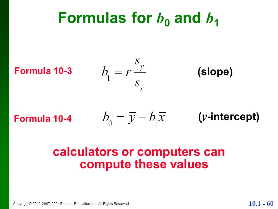 calculators or computers can compute these values