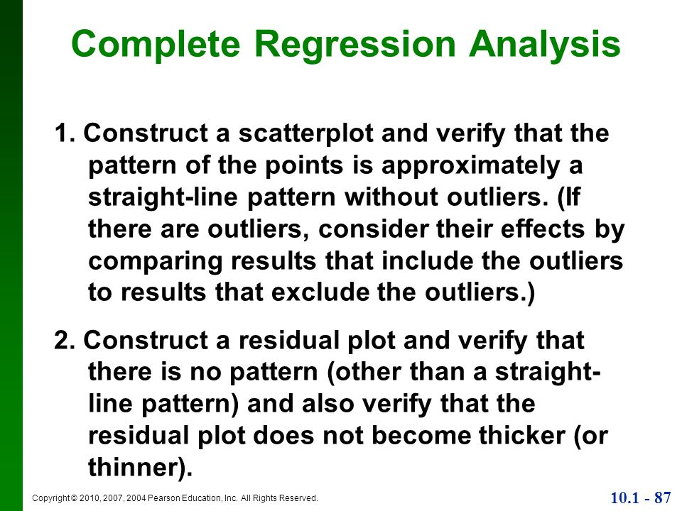 Complete Regression Analysis