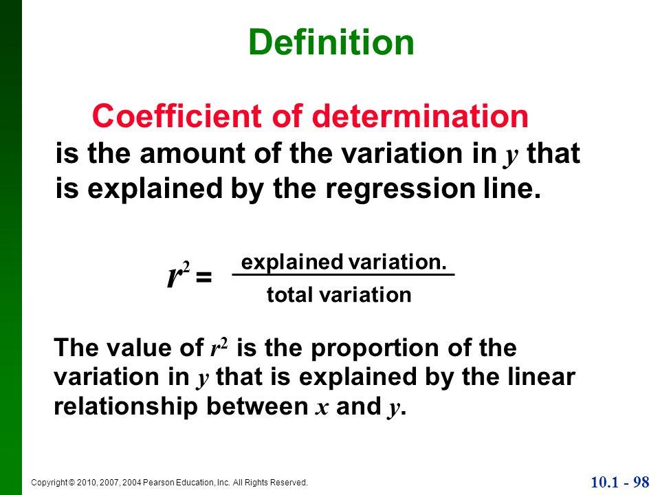 r2 = Definition Coefficient of determination