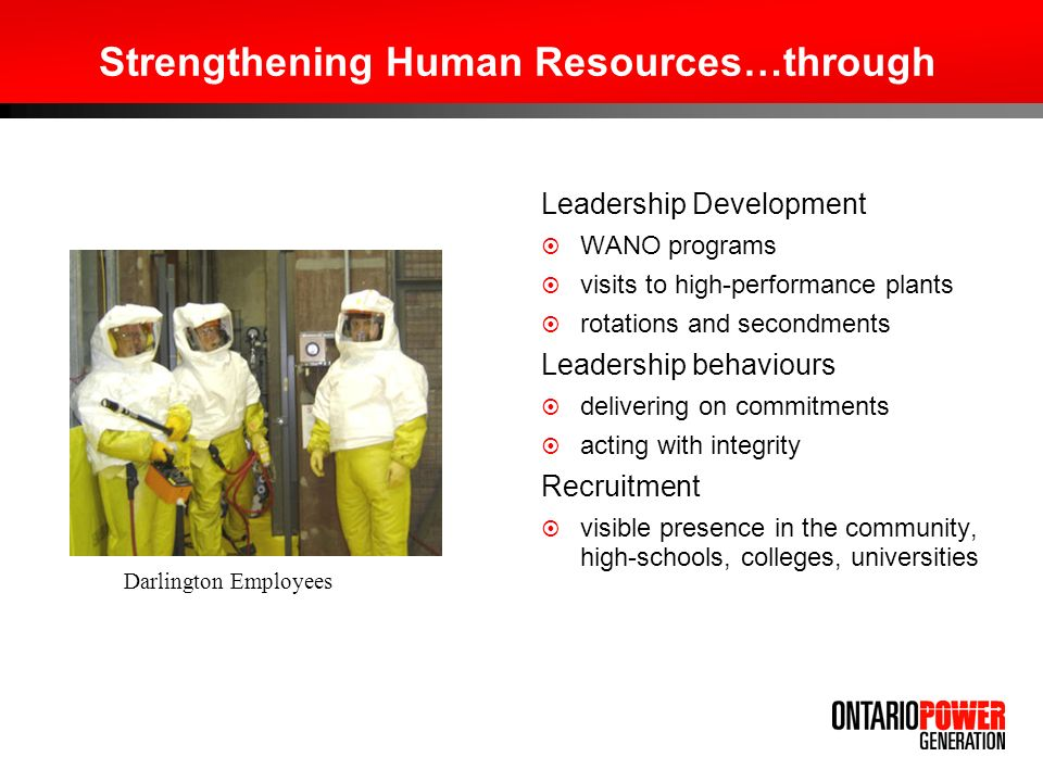 Strengthening Human Resources…through