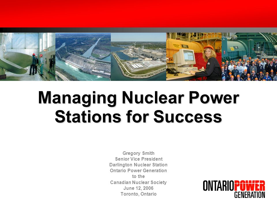 Managing Nuclear Power Stations for Success