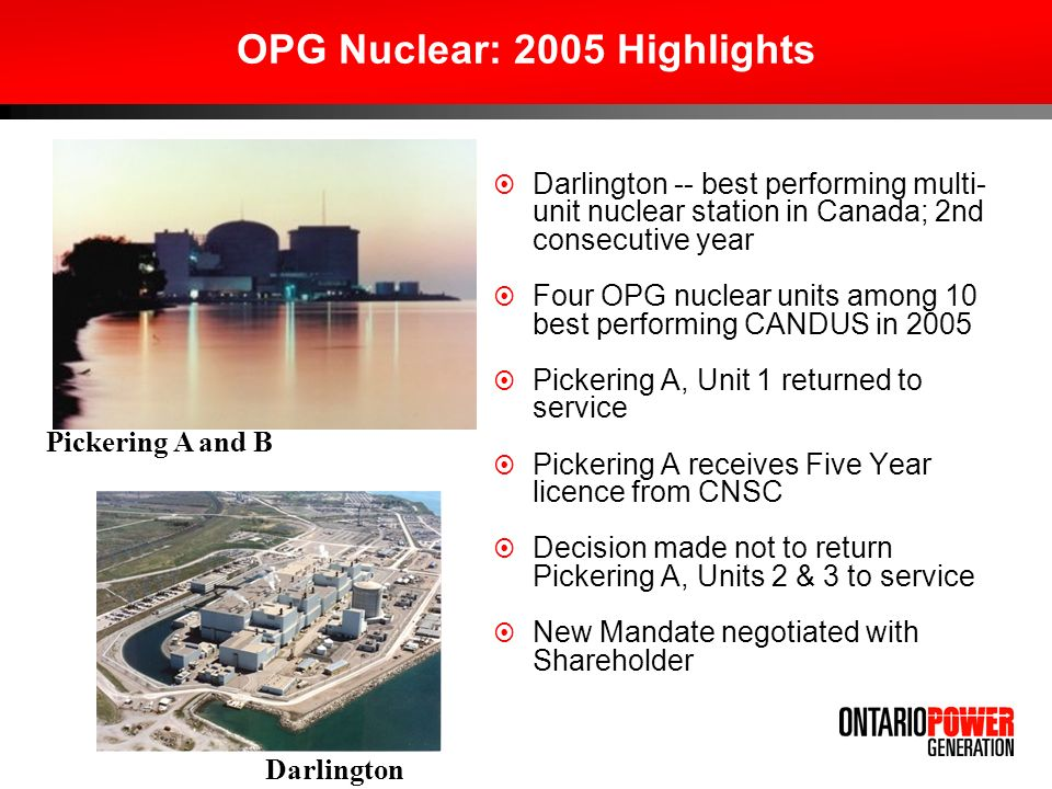OPG Nuclear: 2005 Highlights
