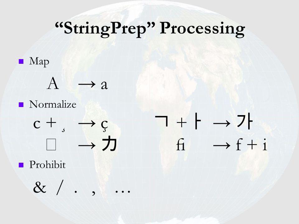 StringPrep Processing