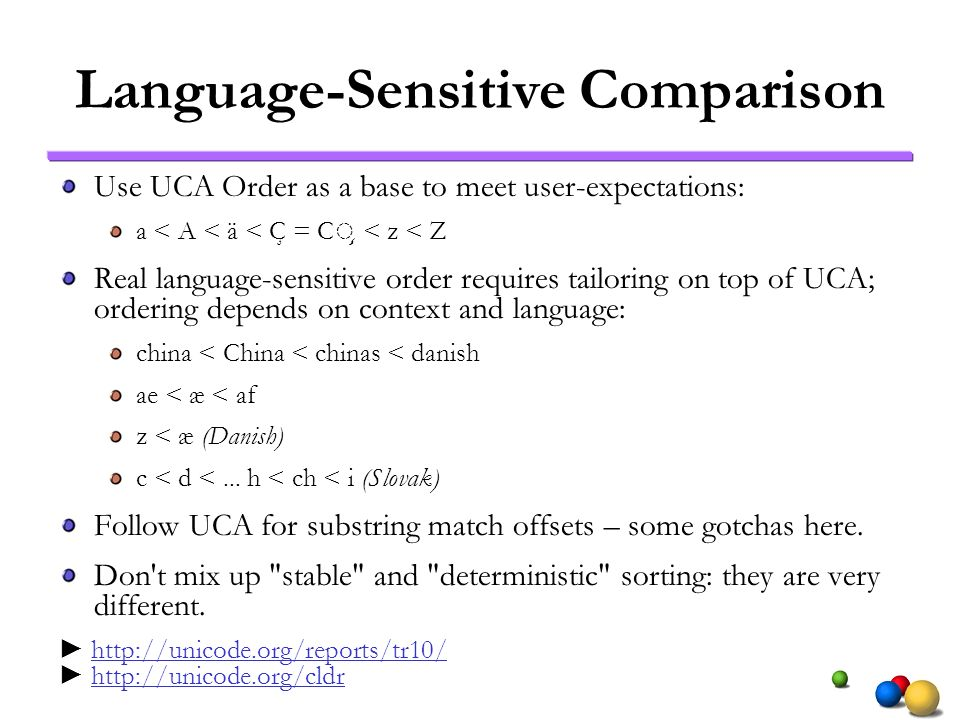 Language-Sensitive Comparison