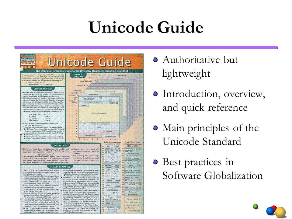 Unicode Guide Authoritative but lightweight