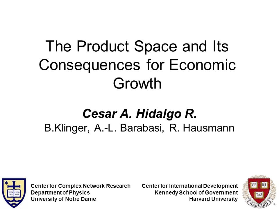 The Product Space and Its Consequences for Economic Growth