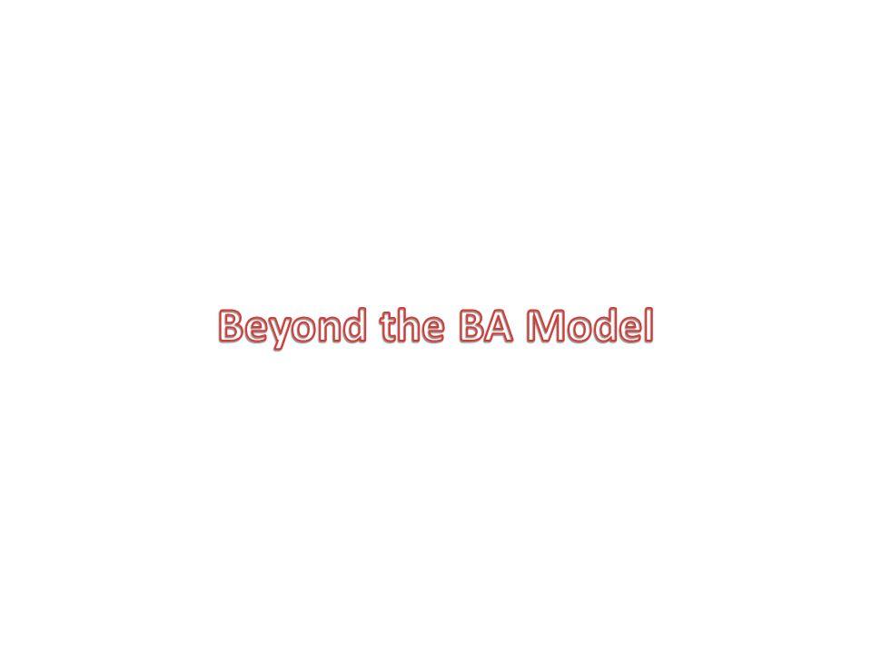 Beyond the BA Model