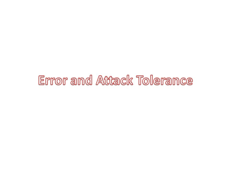 Error and Attack Tolerance
