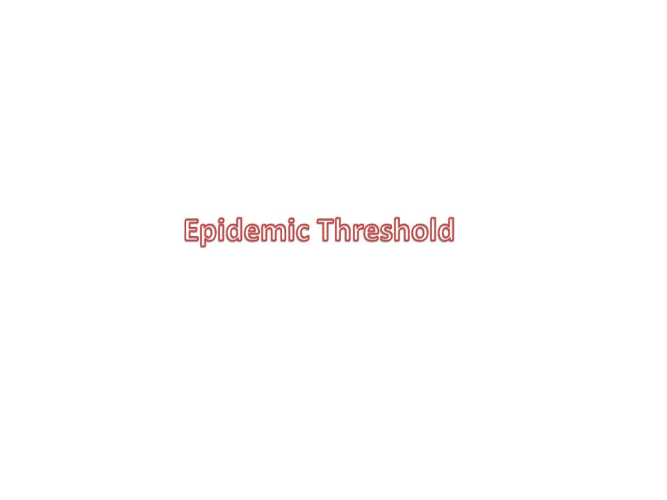 Epidemic Threshold