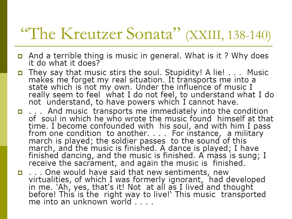 The Kreutzer Sonata (XXIII, )
