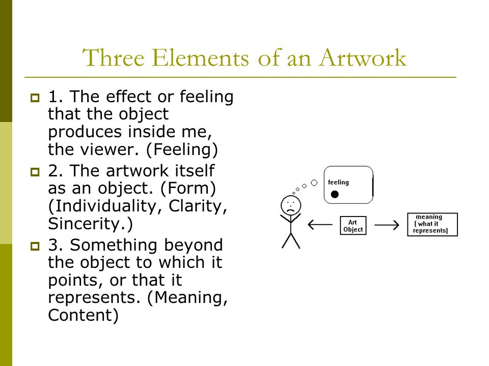 Three Elements of an Artwork