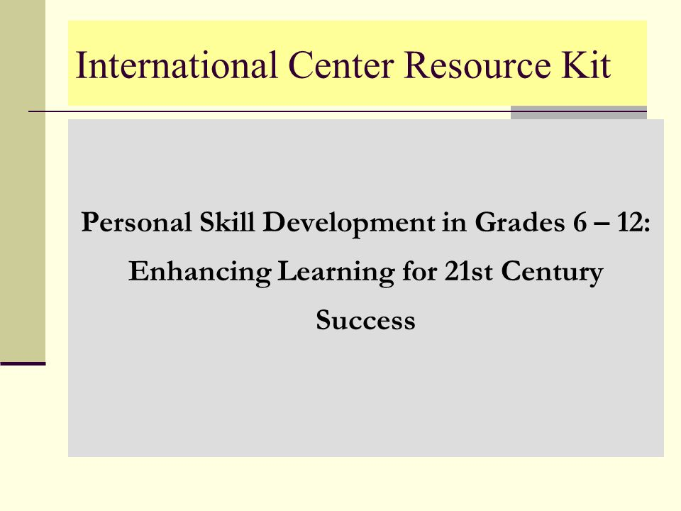 International Center Resource Kit