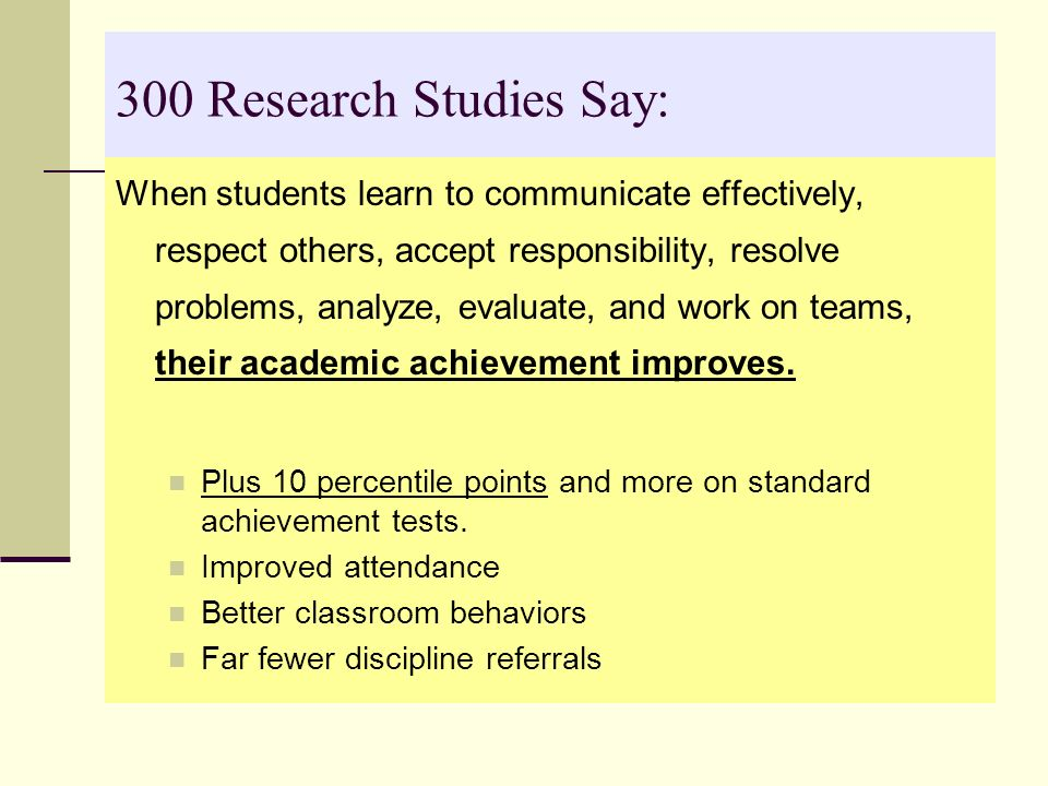 300 Research Studies Say: