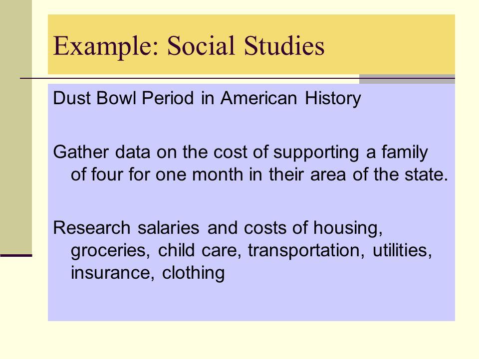 Example: Social Studies