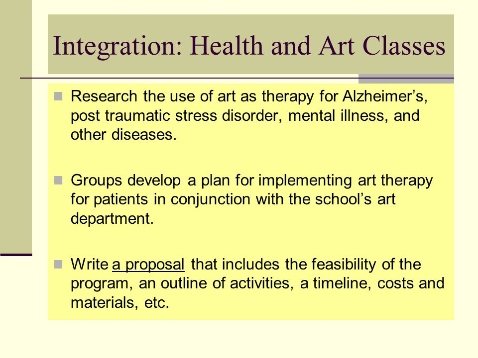 Integration: Health and Art Classes