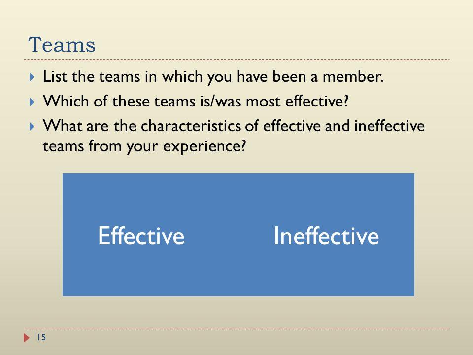 Effective Ineffective