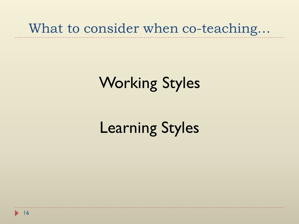 What to consider when co-teaching…