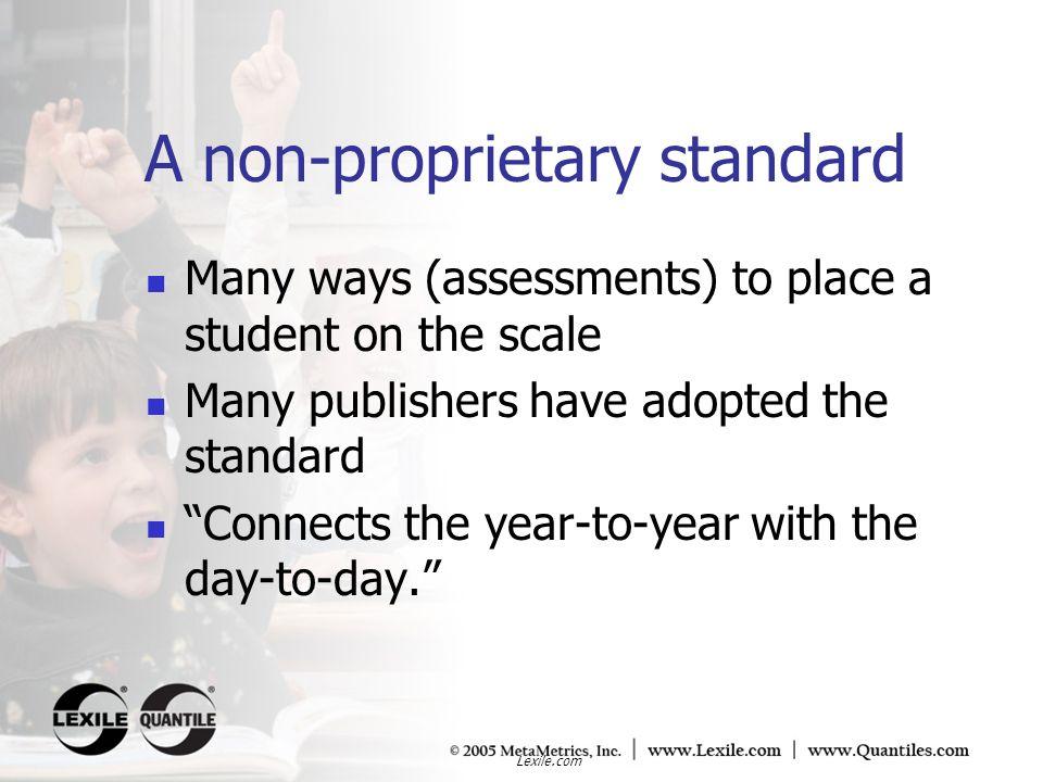 A non-proprietary standard