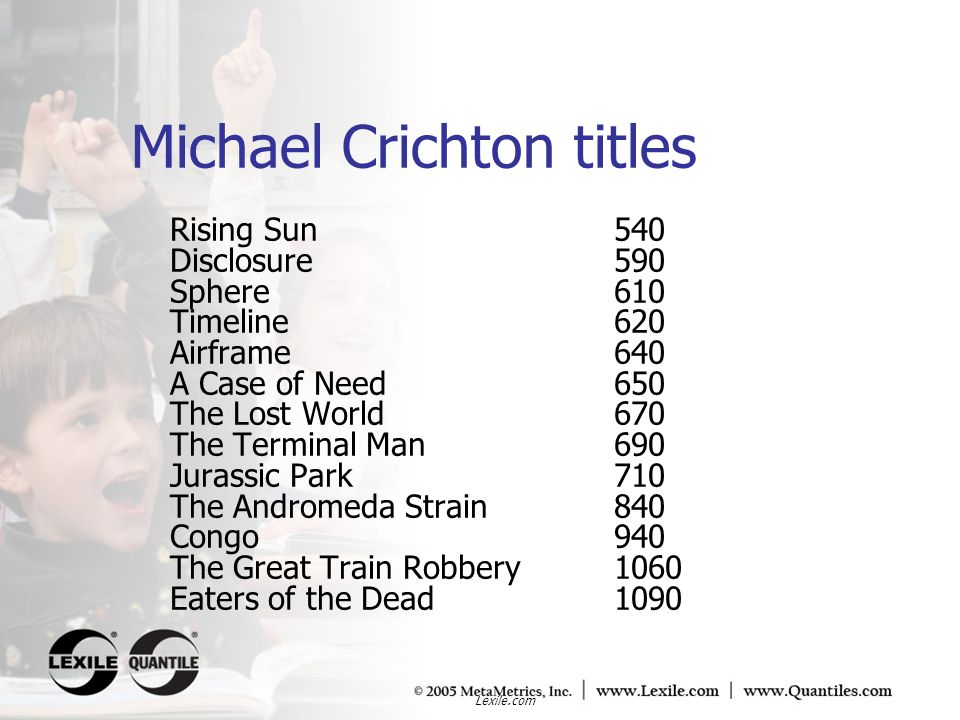 Michael Crichton titles