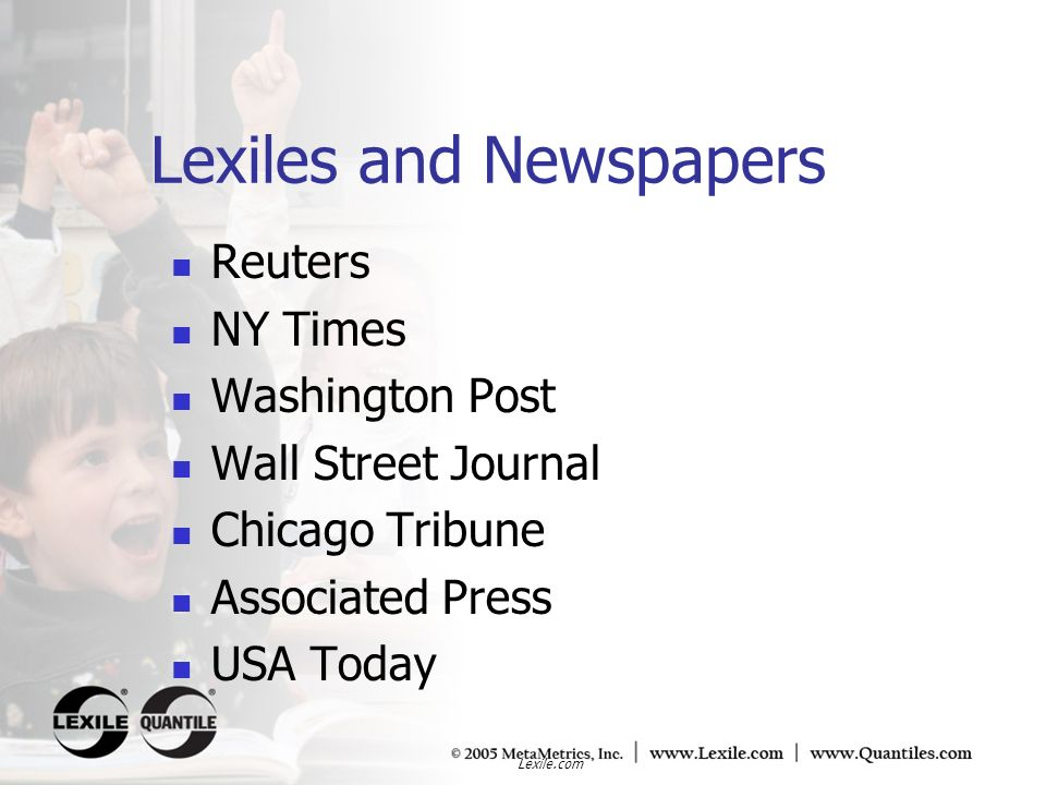 Lexiles and Newspapers