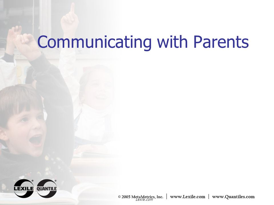 Communicating with Parents