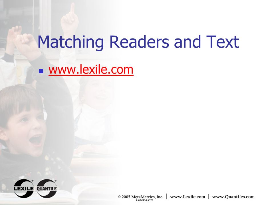 Matching Readers and Text