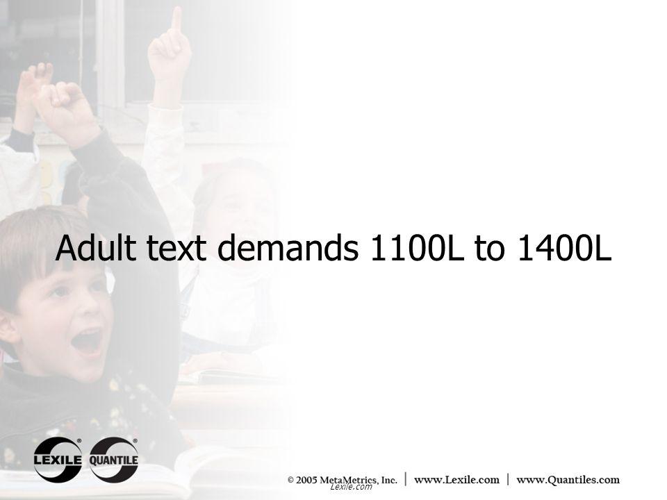 Adult text demands 1100L to 1400L