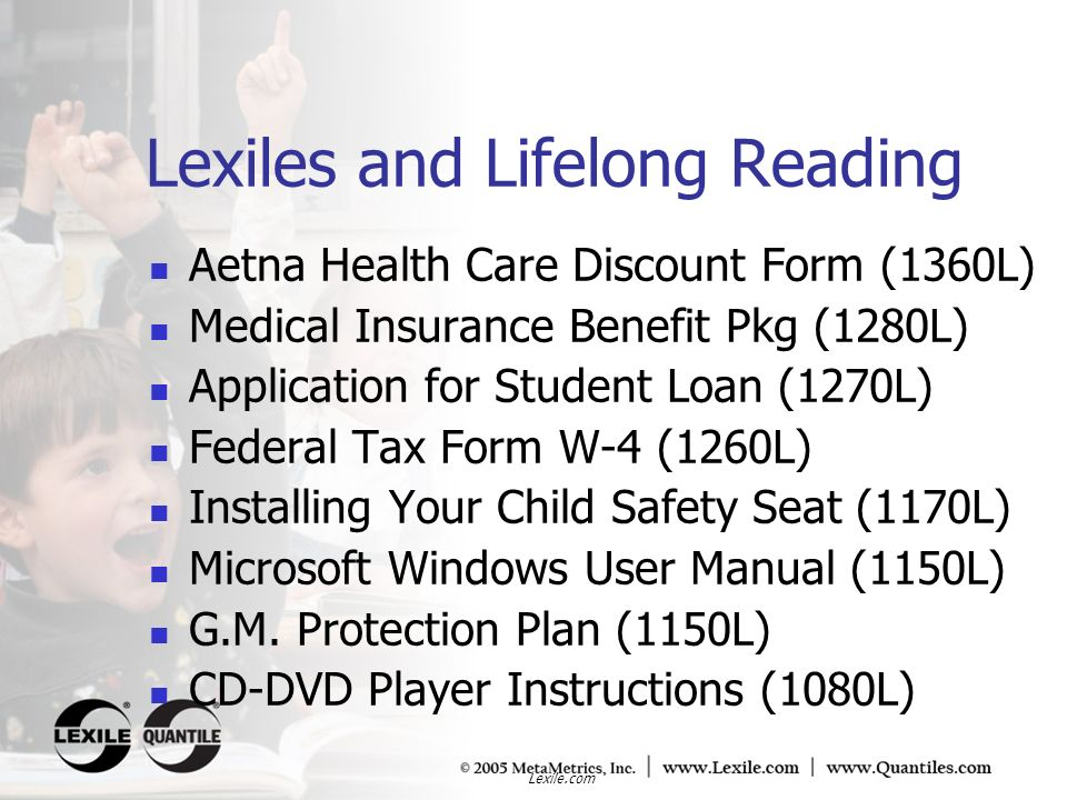 Lexiles and Lifelong Reading