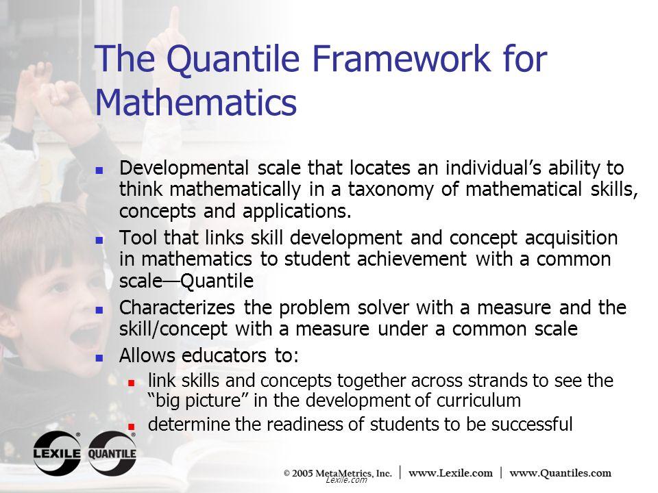 The Quantile Framework for Mathematics