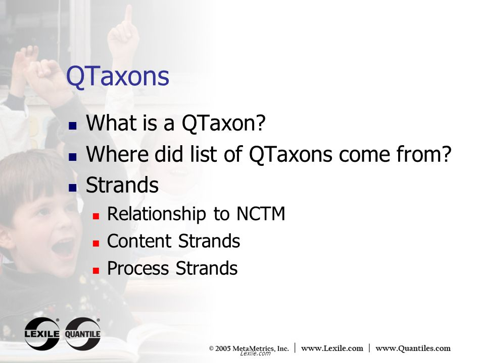 QTaxons What is a QTaxon Where did list of QTaxons come from Strands