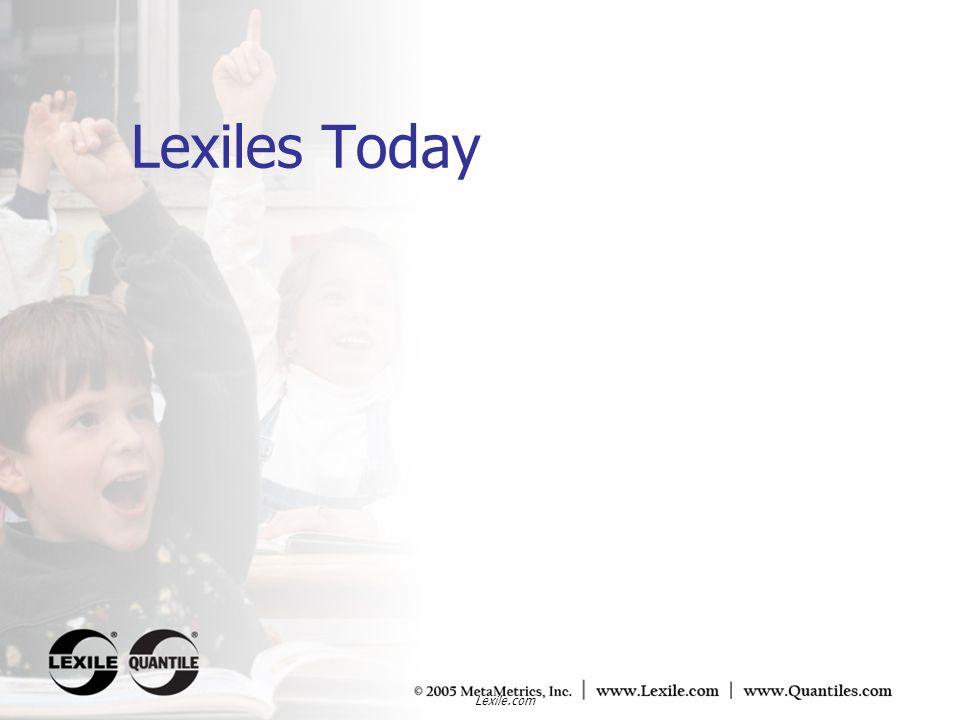 Lexiles Today Lexile.com