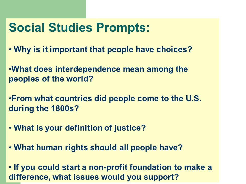 Social Studies Prompts: