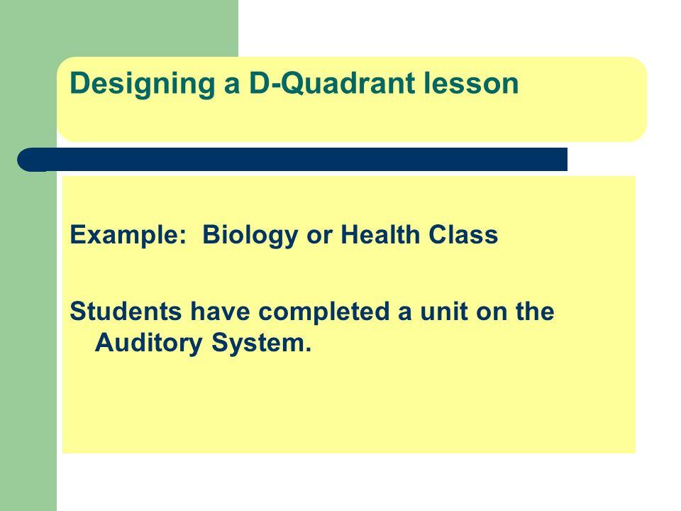 Designing a D-Quadrant lesson
