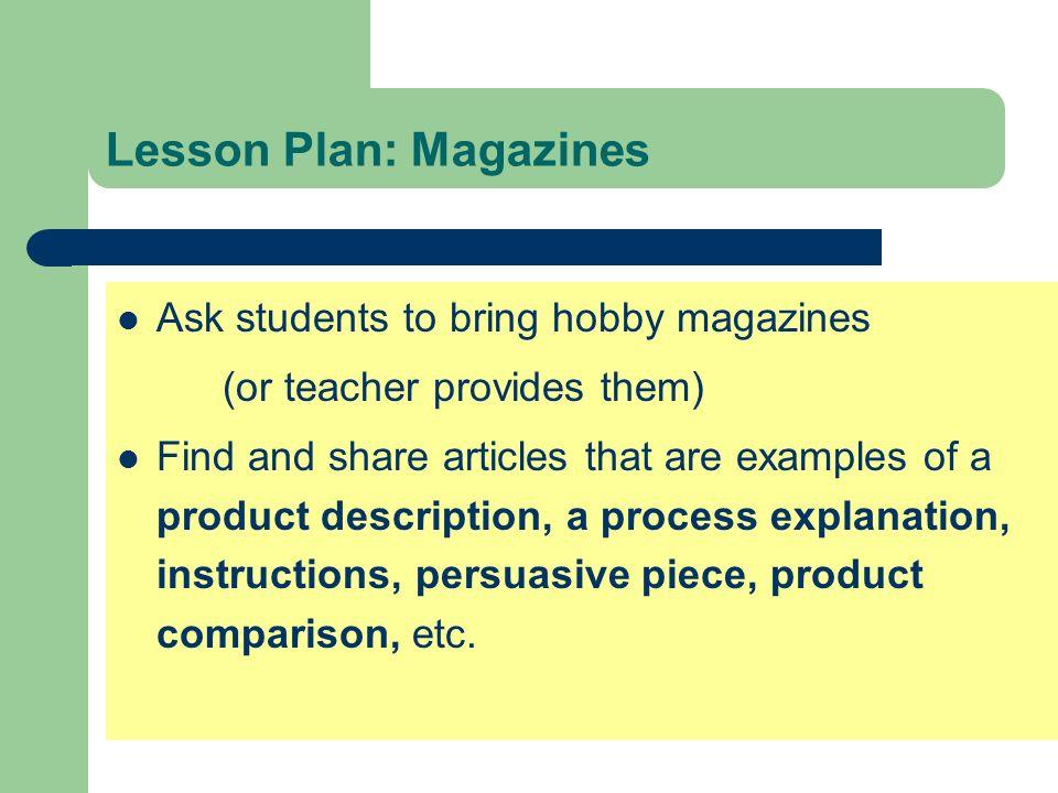 Lesson Plan: Magazines