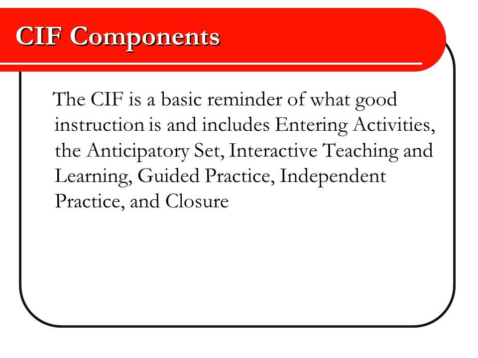 CIF Components