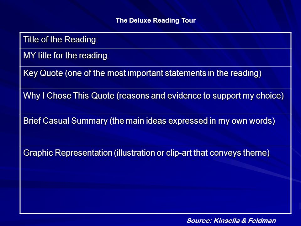 The Deluxe Reading Tour