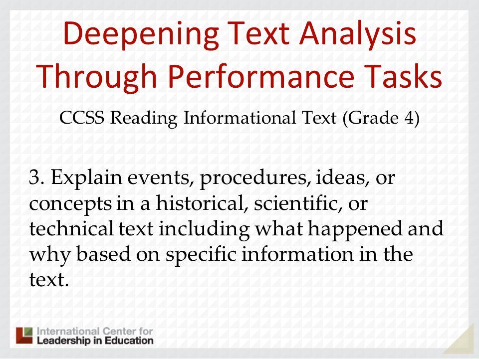 Deepening Text Analysis Through Performance Tasks