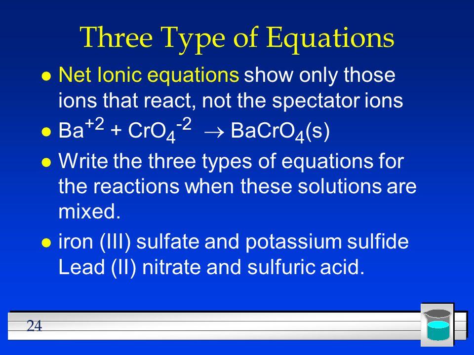 Three Type of Equations
