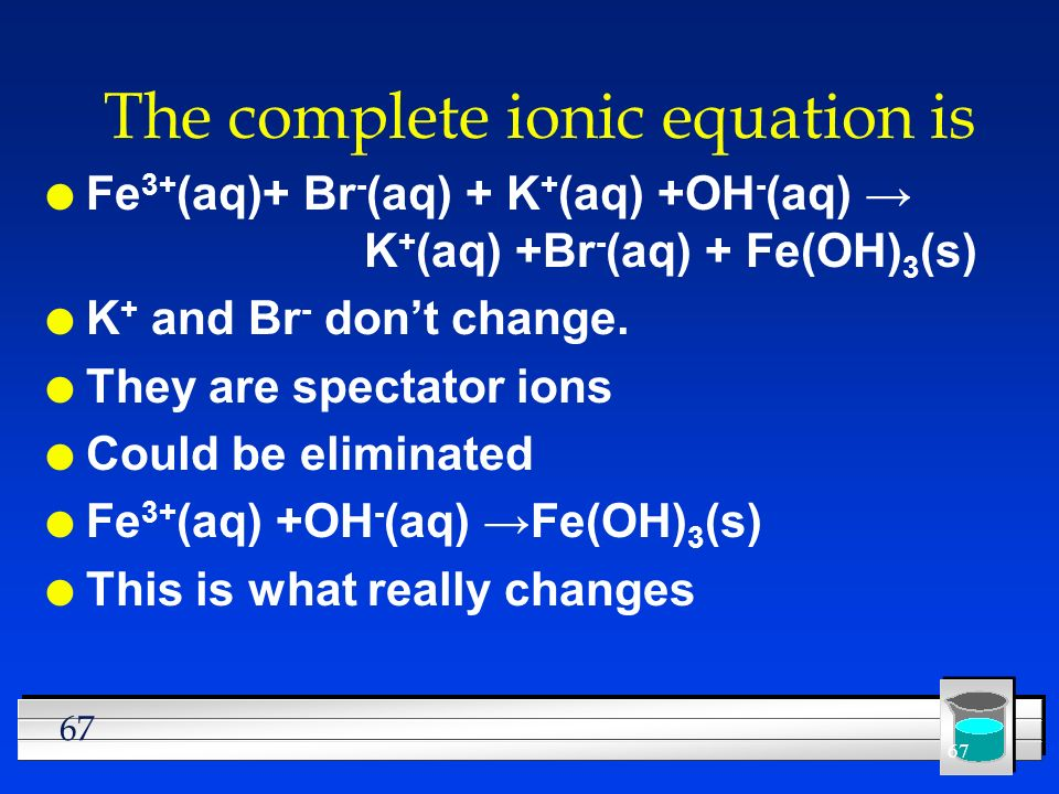 The complete ionic equation is